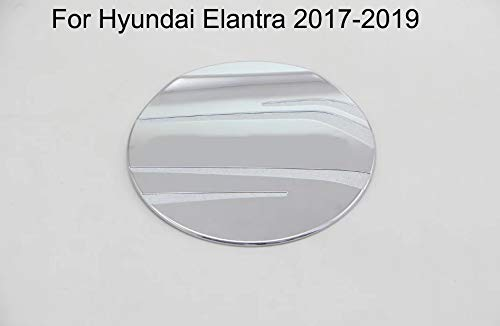 - Yingchi ABS Chrome Car Fuel Gas Tank Cap Cover Gas Door Cover Trim Emblems for Hyundai Elantra 2017 2018 2019