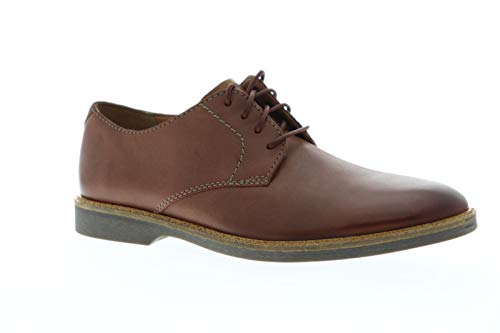 CLARKS Men's Atticus Lace Oxford, Mahogany Leather, Size 8.0 (Boot Mahogany Leather)