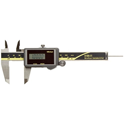 Mitutoyo 500-473 Absolute Digital Caliper, Stainless Steel, Solar Powered, Inch/Metric, 0-4'' Range, +/-0.001'' Accuracy, 0.0005'' Resolution by Mitutoyo