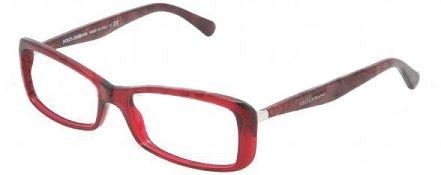 Dolce & Gabbana Corset Dg3139 Eyeglasses 550 Transparent Red Demo Lens 54 16 - Dolce Usa Store And Gabbana