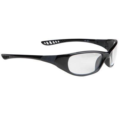 V40 Hellraiser Safety Glasses Black Frm, Clear Scratch-Resistant - Frm Lens Clear