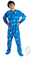 Kids Footed Pajamas - Snowflakes