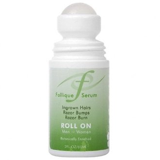 Follique Serum Roll On for Razor Bumps Ingrown Hairs Razor burn caused by waxing shaving and hair removal