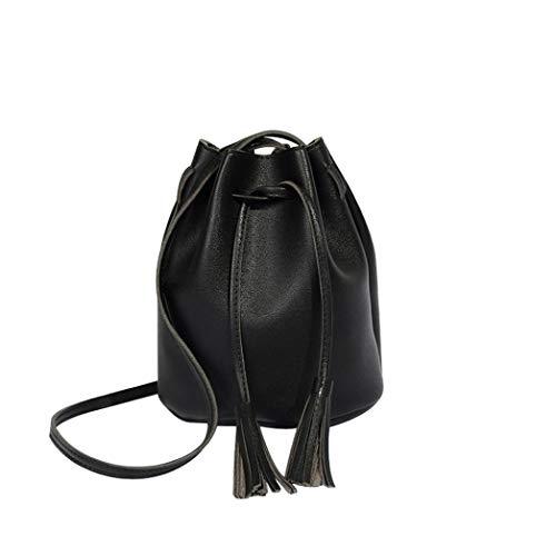 Women Tassels High Capacity Bucket Bag Shoulder Bag Crossbody Bag (Fancy Shopper Bag)