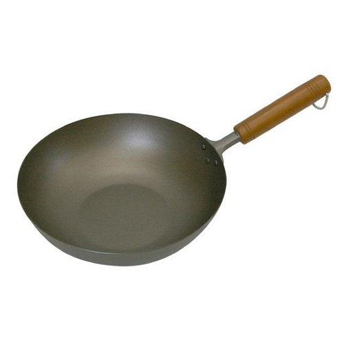 Pure Titanium 26cm Chinese Beijing wok wood handle Amazing Lightness pan by Hase original