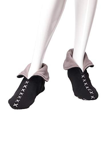 L188h01 Chaussons Noir Pour gris Raikou Femme RA7qfAg