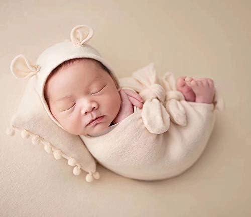 micia luxury(ミシアラグジュアリー) ニューボーンフォト ベビーラップ 帽子 枕 おくるみ ヘッドバンド 5ピースセット 撮影 新生児 小物 写真 6