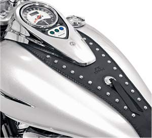 - Mustang Motorcycle Seats Cruiser Studded Tank Bib with Conchoes for Kawasaki 2006-08 VN900