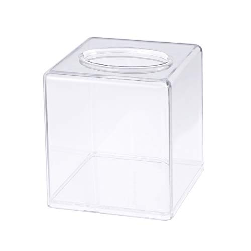 BESTOMZ Square Tissue Box Cover Acrylic Tissues Paper Holder for Bathroom