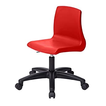 Metalliform NP5ADJ-CG-Red - Silla giratoria con elevador de gas y ruedas (base negra), color rojo: Amazon.es: Industria, empresas y ciencia
