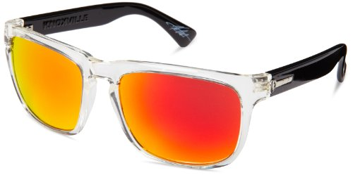 Electric Visual Knoxville Black Crystal/Grey Fire Chrome - Freaky Sunglasses