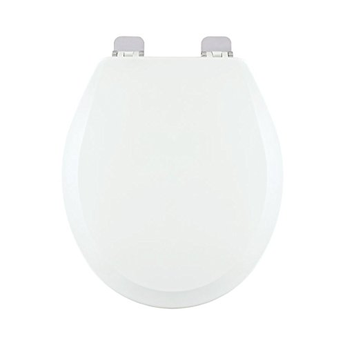 Centoco 700BN-001 Wood Round Toilet Seat with Closed Front, White