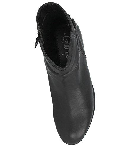 Dames Gluv Bloc Véritable Zip Talon Mode Taille Chelsea Noir 8 4 Bouton En Bottes Cuir Fixation YYxqrdf