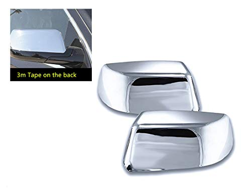 eLoveQ CHROME TOP HALF SIDE MIRROR COVER COVERS FOR 2015-2019 Chevy TAHOE/SUBURBAN; GMC YUKON/YUKON XL; CADILLAC ESCALADE/ESCALADE ESV ^DO NOT FIT THE MODELS WITH SIDEVIEW CAMERA^ ()