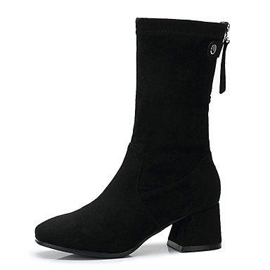 Negro Invierno Eventuales Amarillo Otoño UK6 Zapatos CN39 EU39 Para Moda Botas Mujer Botas Microfibra De RTRY US8 Los wqRxPfnOx