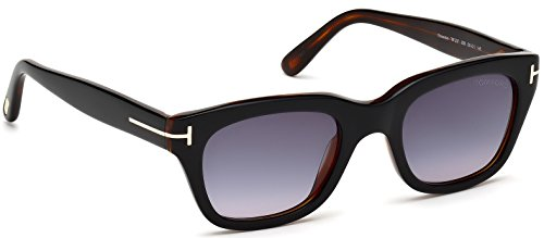 Tom+Ford+Sunglasses+-+Snowdon+%2F+Frame%3A+Shiny+Black+with+Brown+Lens%3A+Grey+Gradient