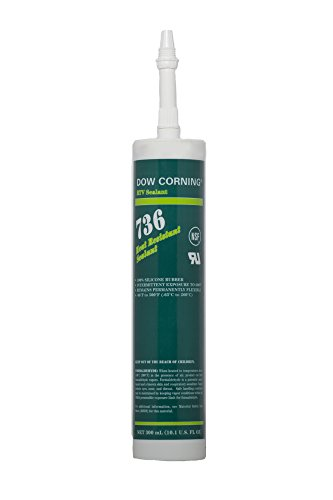 Dow Corning 2086433 736 Red Heat Resistant Sealant, -65 to 260 Degree C, 300 mL - Dow Corning Rtv Sealant