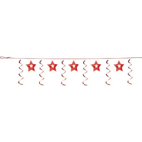 Dizzy Dangler Garland - Dizzy Dangler Garland, Red Stars