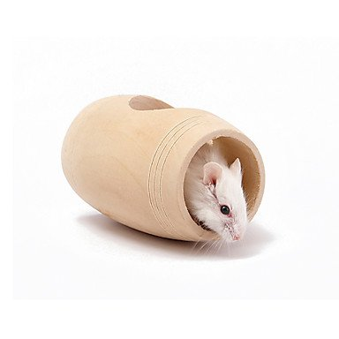 Quick shopping Natural Wooden Wine Barrel Exercise Toy for Hamster