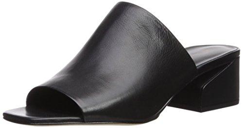 Via Spiga Women's Porter Slide Sandal, Black Leather, 8.5 Medium US by Via Spiga