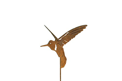 BLUE LUCA Hummingbird Garden Stake | Double Wing Hummingbird Art for The Yard | Made in USA ()