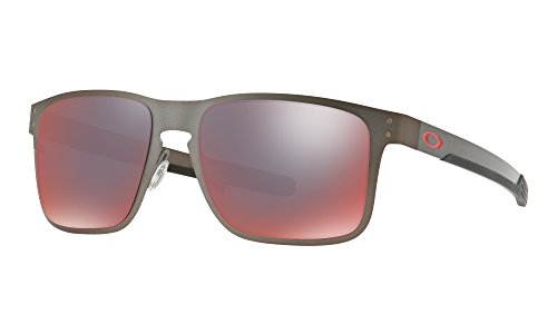 Oakley Holbrook Metal Sunglasses Matte Gunmetal with Torch Iridium Polarized Lens + - Polarized Metal Holbrook Prizm