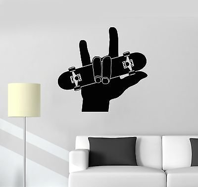 Vinyl Decal Skateboard Teen Room Sports Skateboarding Wall Stickers VS329