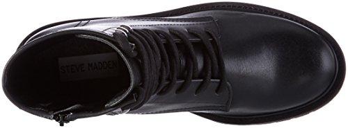 Steve Madden Hastel Ankleboot, Bottes Motardes Femme Noir (Black)