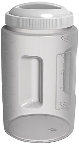United Solutions FS9007 Pack of Six Three Quart Plastic Food Canister with White Lid -3QT .75 Gallon Kitchen Food Storage and Organizing Container and Lid 6 pack