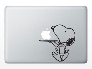 Snoopy Serving for Apple Macbook Air / Pro Laptop Vinyl Deca