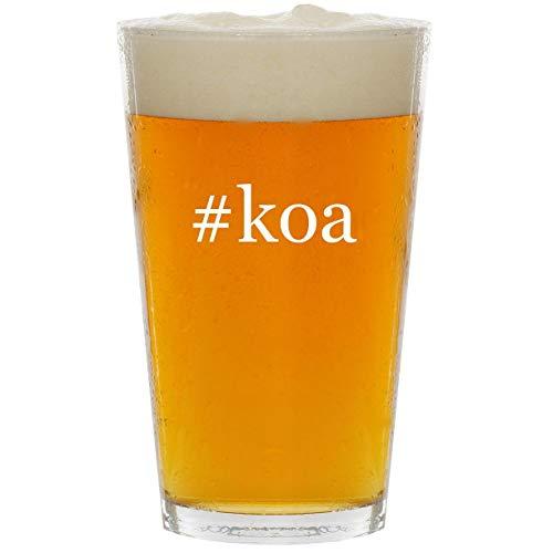 #koa - Glass Hashtag 16oz Beer Pint ()