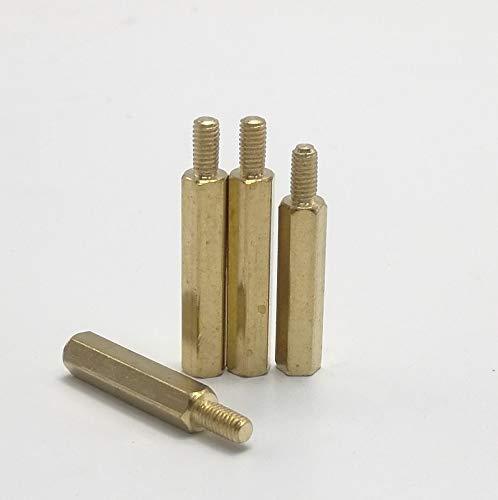 5//10//20//50Pcs Brass M2 M2.5 M3 M4 M5 Copper Hex Standoff Hexagon Pillar M-F Male-Female Female Spacer For PCB Board Motherboard Female-Female M4 10pcs 35mm