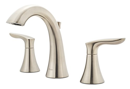 Pfister Weller LG49WR0K Widespread Bath Faucet, brushed nickel finish,