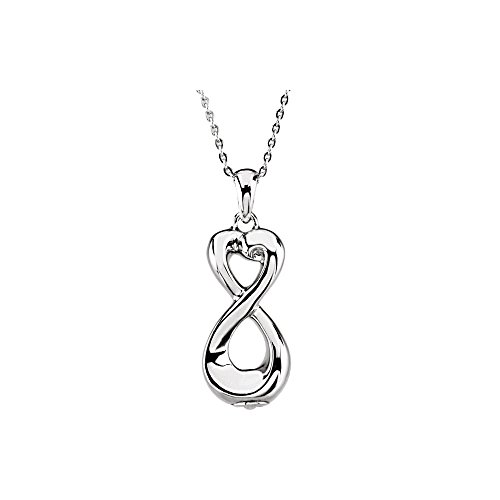 Infinity Love Ash Holder Pendant Necklace in Sterling Silver by KATARINA (Image #2)'