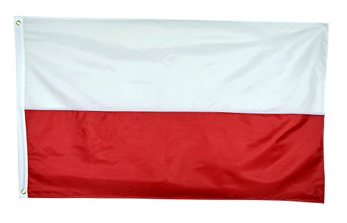 Shop72 - Poland Flag Sewn Stripes Sturdy 201D Oxford Nylon Country Flags - World Flag - Canvas Header Brass Grommets Double Stitched From Wind ()