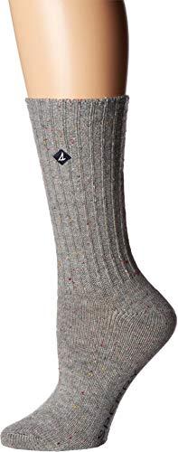 en's Boyfriend Crew Socks, Gray Marl, Shoe 4-10/Sock Size 9-11 ()