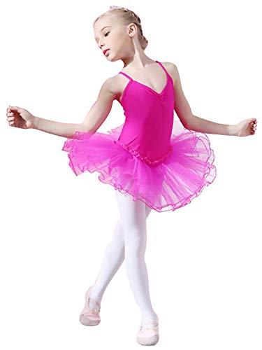 Mesh Skirt for Ballet//Dance//Gymnastic Yuanu Girls Tutu Ballet Clothes Kids Dancewear Princess Dress Leotard Sling Tops