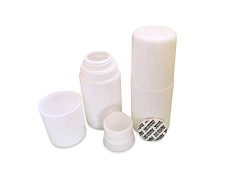 Set of 2 Empty Refillable Roll-On Deo Bottles with plastic Roller Ball. Reusable.
