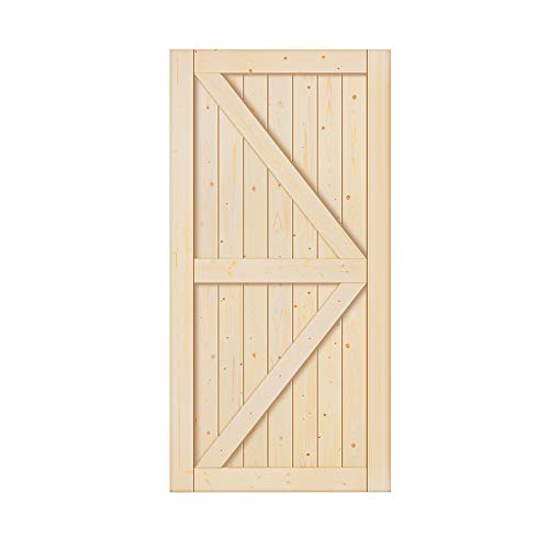 42 x 84 inch Unfinished Sliding Barn Wood Door Slab