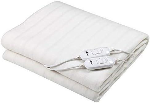 Manta eléctrica/Calentadora de cama, dimensiones: 160x140cm lavable. 2 Ajustes de temperatura. 2 controles regulables. Potencia: 2x60W. THULOS TH-EB400