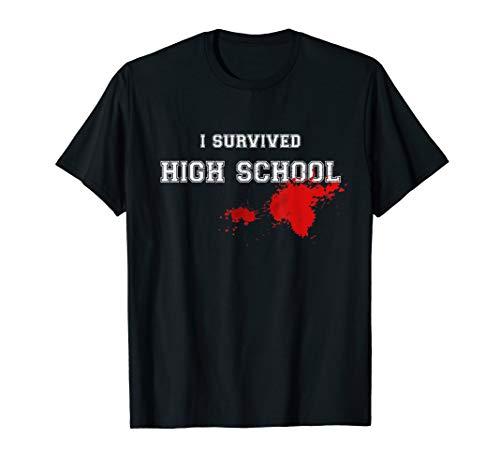 I Survived High School T Shirt, Original Vintage Design ()