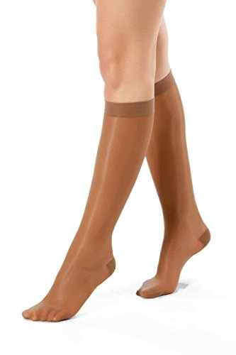®BeFit24 Elegant Knee High Graduated Mild Compression Support Socks for Women (10-14 mmHg, 40 Denier) - Great for Swelling Relief, Varicose and Spider Veins Prevention, Ankle Pain, Cramps - [ Size 3 ] (Sets Pump Kendall)