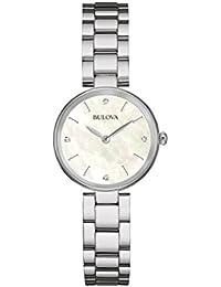 womens 96P159 12mm Stainless Steel Silver Watch Bracelet