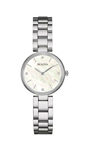 Bulova womens 96P159 12mm Stainless Steel Silver Watch Bracelet