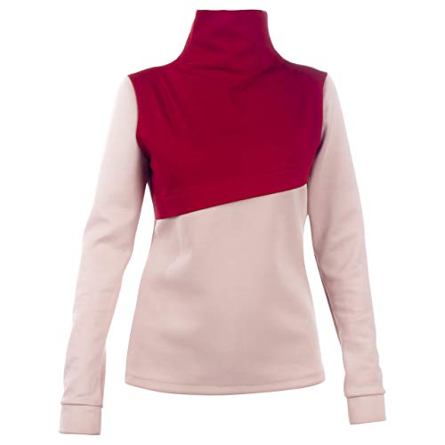 (Womens Sweater - Red & Pink || Charming - Turtleneck Red Roll Neck Top - Pink Color Sweater for Women || Custom Handmade Gift for Wedding Festival Occasion Anniversary Graduation)