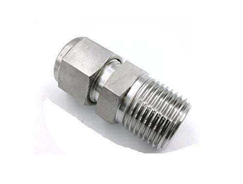 RADWELL VERIFIED SUBSTITUTE SS-810-1-8-SUB Male Connector, 1/2-1/2 (Tube OD - Male NPT), Double Ferrule, 316SS, Replaces SWAGELOK Part # SS-810-1-8