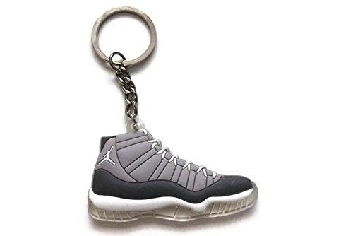 96eb99e0836 Jordan XI 11 Cool Grey Sneakers Shoes Keychain Keyring AJ 23 Retro Air