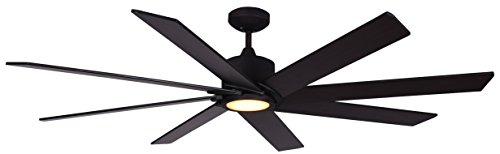 TroposAir Northstar 60-Inch DC Ceiling Fan in Oil Rubbed Bronze with Integrated LED Light and Remote ()