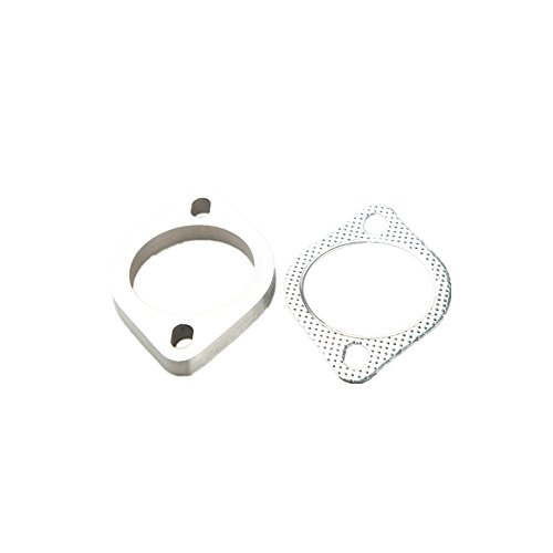 "2.25"" ID Stainless Steel Exhaust Flange And Exhaust Gasket 2 Bolt - US Shipping"
