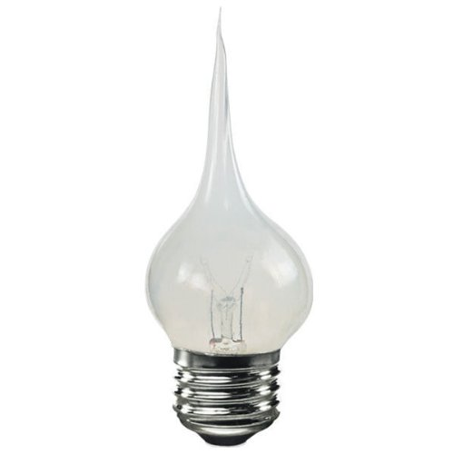 Specialty Tip - Bulbrite SF/7.5S11 Silicone Dipped 7.5W  E26 Chandelier Bulb, Medium Base